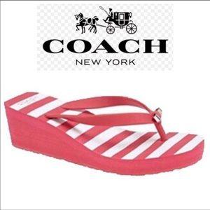 COACH Wedge Flip Flop Sandals Size 8